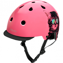 Electra Cool Cat cycle helmet with detachable peak - medium (54cm to 60cm)