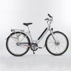 white step through electric bike (46cm frame)
