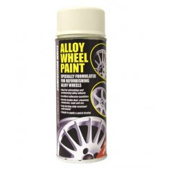 competition white alloy wheel paint - 400ml aerosol