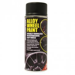 motorsport black alloy wheel paint - 400ml aerosol