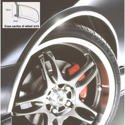 Etech wheel arch guard in chrome finish - 5 metre roll