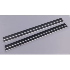 Ford Fiesta MK8 stainless steel sill protectors for 2 door model