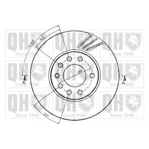 Front brake disc for Vauxhall Corsa C 1.7 CDTi - 280mm vented