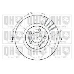 Front brake disc for VW Bora - 280mm vented
