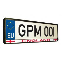 English car number plate surround
