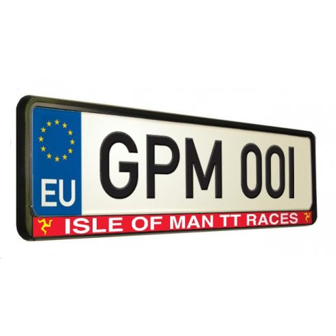 Isle of Man TT Races car number plate surround.