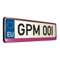 Pink car number plate surround