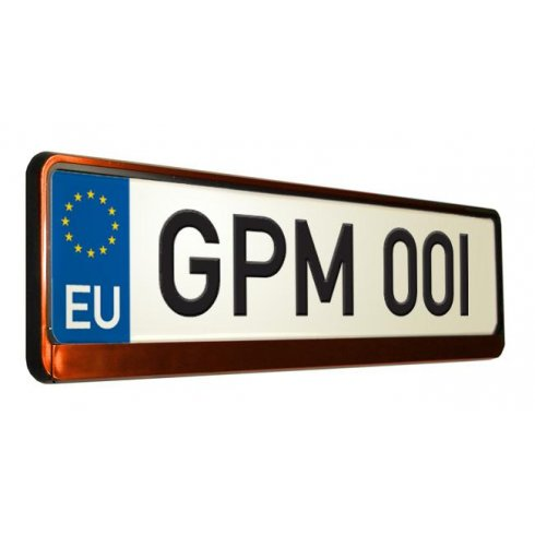 Red car number plate surround