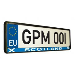 Scottish car number plate surround