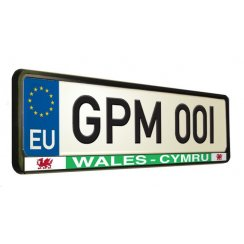 Welsh car number plate surround