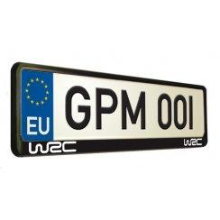 WRC black frame car number plate surround