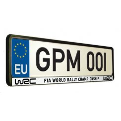 WRC FIA World Rally Championship car number plate surround