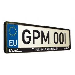 WRC maximum attack car number plate surround.