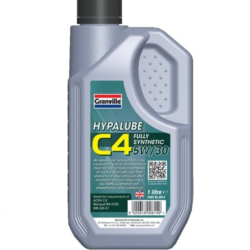 Hypalube C4 5W/30 Engine Oil 1 litre full synthetic