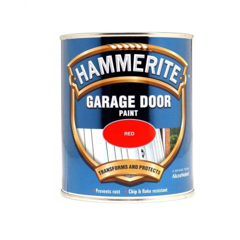Hammerite garage door paint - Red 750ml