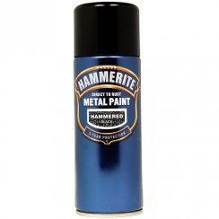 Hammerite hammered black aerosol spray paint 400ml