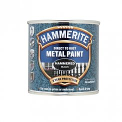 Hammerite hammered metal paint - Black 250ml