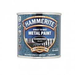 Hammerite hammered metal paint - Black 250ml