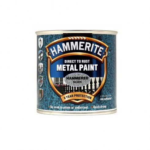 Hammerite hammered metal paint - Silver 250ml
