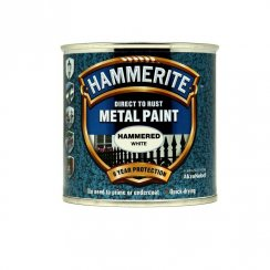 Hammerite hammered metal paint - White 250ml