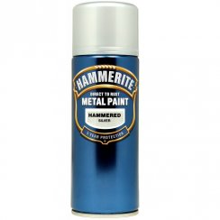 Hammerite hammered silver aerosol spray paint 400ml