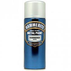 Hammerite hammered white aerosol spray paint 400ml