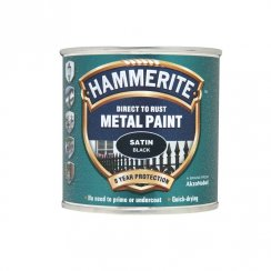 Hammerite metal paint - Satin Black 250ml