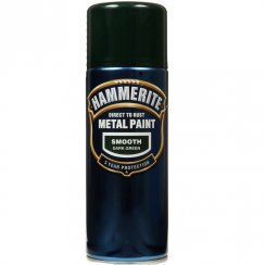 Hammerite smooth dark green metal paint 400ml aerosol