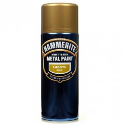 Hammerite smooth gold metal paint 400ml aerosol