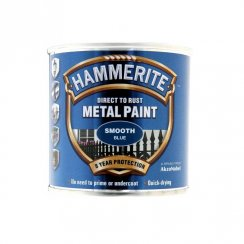 Hammerite smooth metal brushable paint - Blue 250ml