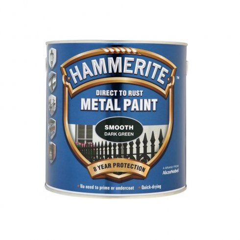 Hammerite smooth metal brushable paint - Dark Green 250ml