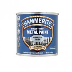 Hammerite smooth metal brushable paint - Silver 250ml