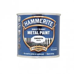 Hammerite smooth metal brushable paint - White 250ml