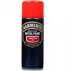 Hammerite smooth red metal paint 400ml aerosol