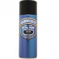 Hammerite smooth satin black aerosol spray paint 400ml