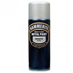 Hammerite smooth silver aerosol spray paint 400ml