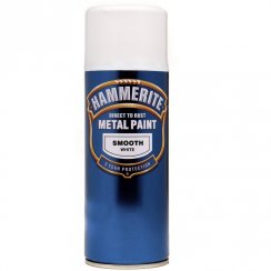 Hammerite smooth white aerosol spray paint 400ml