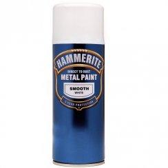 Hammerite smooth white aerosol spray paint 400ml
