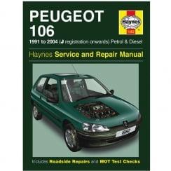Haynes workshop manual for Peugeot 106 91-2004 (Petrol & Diesel)