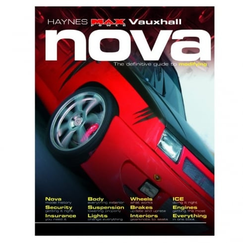 Haynes workshop manual for Vauxhall Nova - The definitve guide to modifying