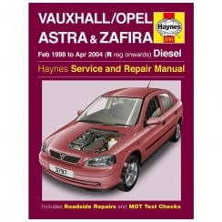 Haynes workshop manual for Vauxhall/Opel Astra & Zafira Febuary 98- April 2004 (Diesel)