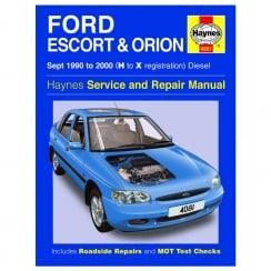 Haynes workshop manual for Ford Escort & Orion September 90-2000 (Diesel)