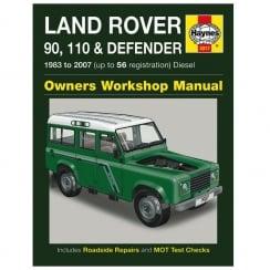 Haynes workshop manual for Land Rover 90, 110 & Defender 83-2007 (Diesel)