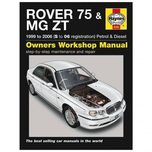 Haynes workshop manual for Rover 75 & MG ZT 99-2006 (Petrol & Diesel)