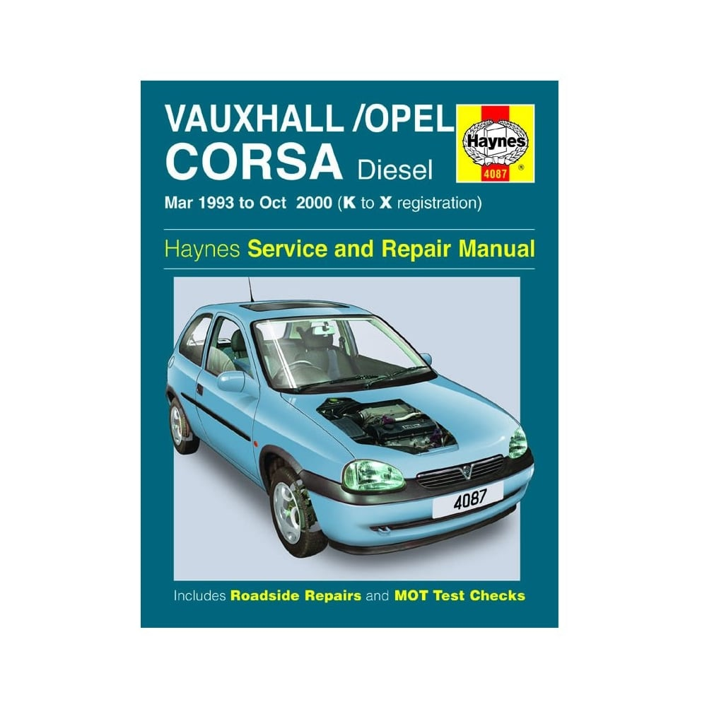 Haynes workshop manual for Vauxhall/Opel Corsa March 93- to October 2000