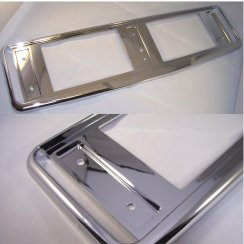 High quality chrome effect car number plate surround