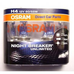 High performance H4 Night Breaker Unlimited car headlight bulbs