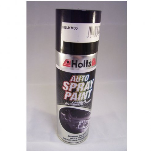 Holts HBLKM05 Paint Match Pro aerosol spray paint black metallic