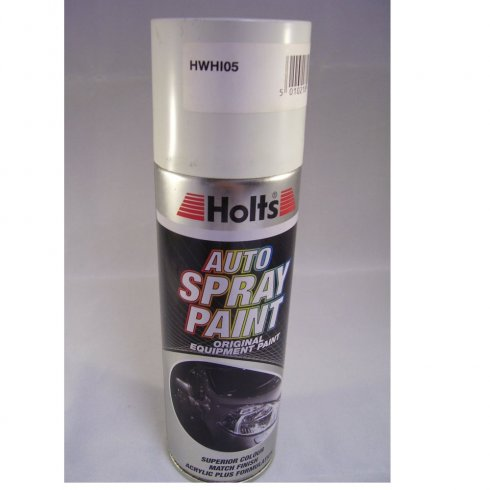 Holts HWHI05 Paint Match Pro aerosol spray paint white non-metallic