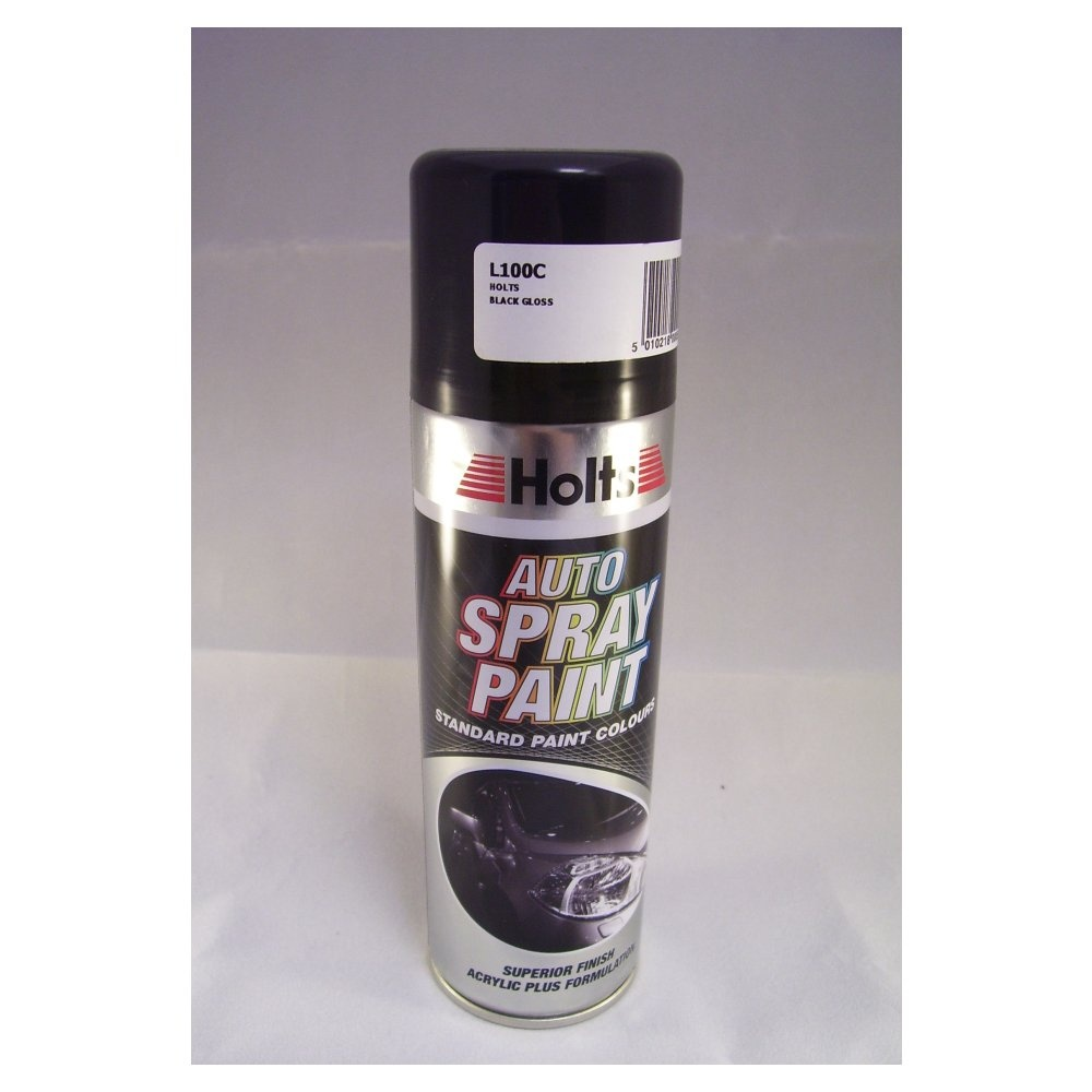 L100c Holts Paint Match Pro Aerosol Gloss Black 300ml